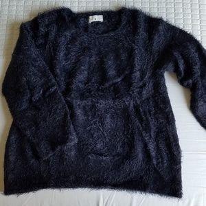 Lou & Grey Navy Eyelash Sweater